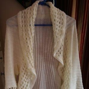 """Say What"" crochet long sleeve top shrug"